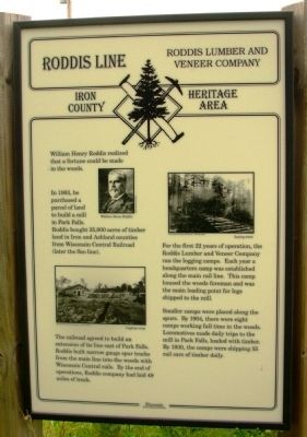 Roddis Line - Roddis Lumber and Veneer Company Marker image. Click for full size.