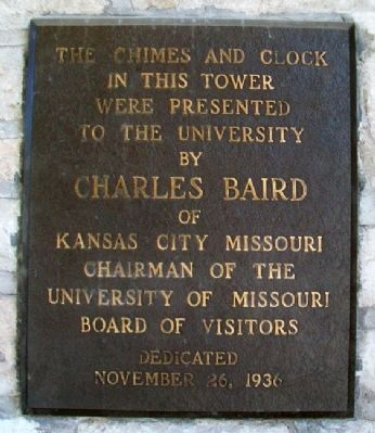 Memorial Union Tower Baird Chimes & Clock Marker image. Click for full size.