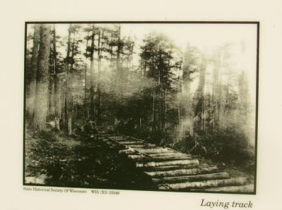 Upper Right Photo: Laying Track image. Click for full size.