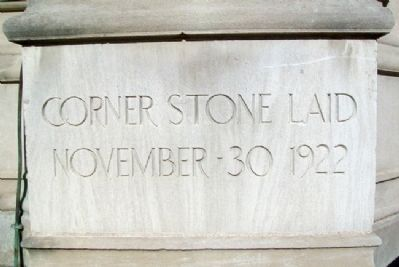 Memorial Union Tower Cornerstone image. Click for full size.