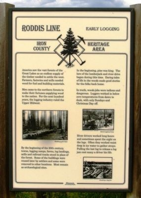 Roddis Line – Early Logging Marker image. Click for full size.