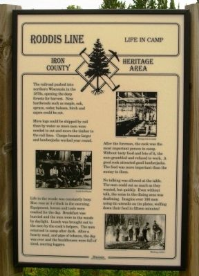 Roddis Line – Life in Camp Marker image. Click for full size.
