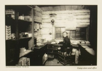Lower photo: Camp store and office image. Click for full size.