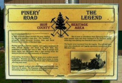 Pinery Road - The Legend Marker image. Click for full size.