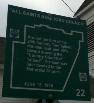 """All Saints Anglican Church"" Marker image. Click for full size."