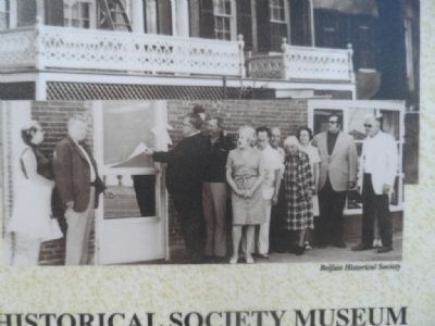 The Belfast Historical Society Museum Marker image. Click for full size.