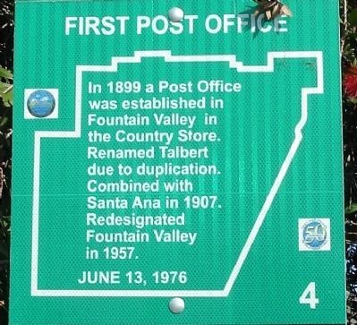 First Post Office Marker image. Click for full size.