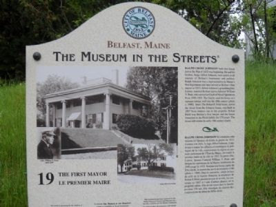 The First Mayor Marker image. Click for full size.