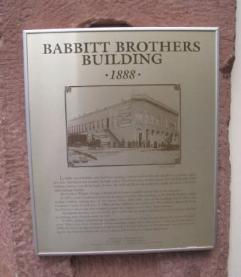 Babbitt Brothers Building Marker image. Click for full size.