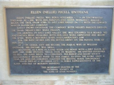 Ellen (Nellie) Purcell Unthank Marker image. Click for full size.