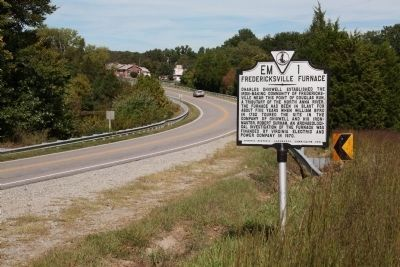 Fredericksville Furnace Marker on Route 208 image. Click for full size.