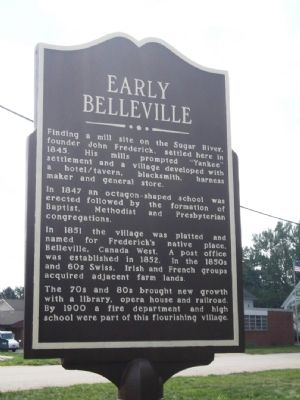 Early Belleville Marker image. Click for full size.