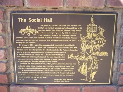 The Social Hall Marker image. Click for full size.