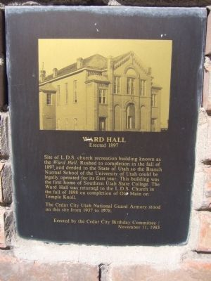 Ward Hall Marker image. Click for full size.