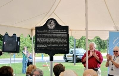 Second Atlanta International Pop Festival Marker Dedication image. Click for full size.