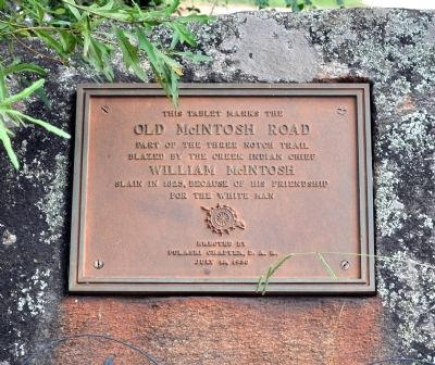 Old McIntosh Road Marker image. Click for full size.
