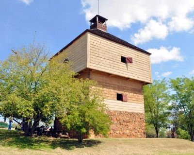 Fort Hawkins Blockhouse image. Click for full size.