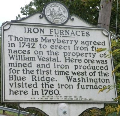 Iron Furnaces Marker image. Click for full size.