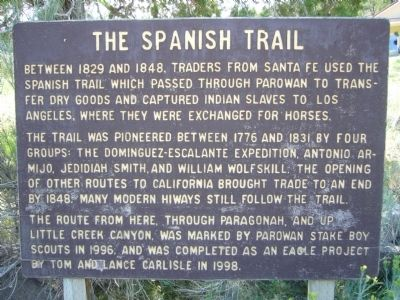 The Spanish Trail Marker image. Click for full size.