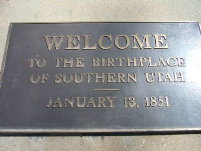 Birthplace of Southern Utah Marker image. Click for full size.