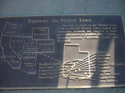 Parowan, the Mother Town image. Click for full size.