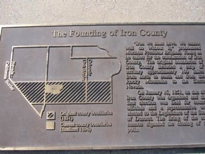 The Founding of Iron County image. Click for full size.