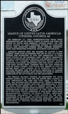 League of United Latin American Citizens, Council 60 Marker image. Click for full size.