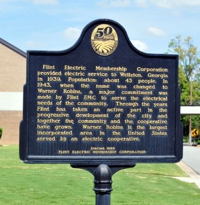 Flint Electric Membership Corporation Marker image. Click for full size.