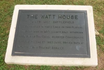The Watt House Marker image. Click for full size.