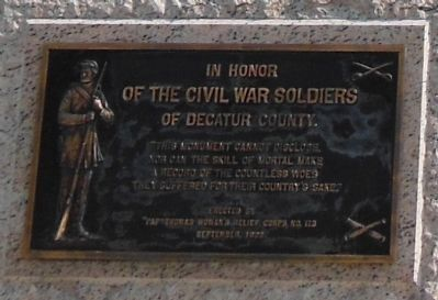 Civil War Soldiers Memorial Placard image. Click for full size.
