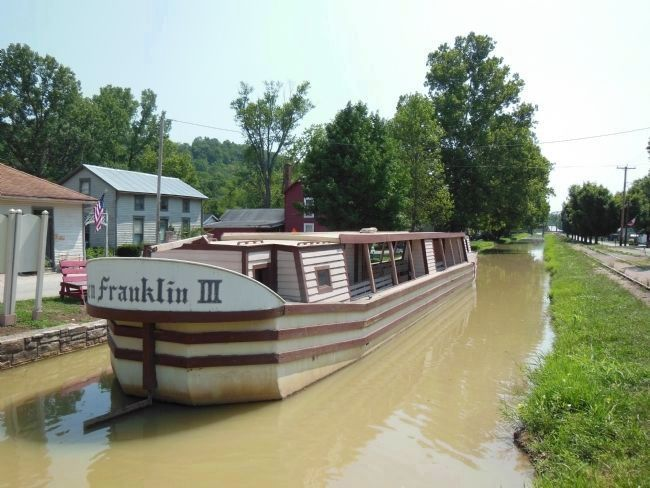 Ben Franklin III Canal Boat Stern image. Click for full size.