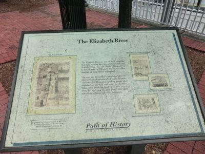 The Elizabeth River Marker image. Click for full size.