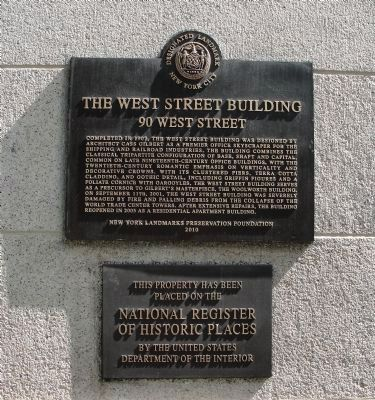 The West Street Building Marker image. Click for full size.