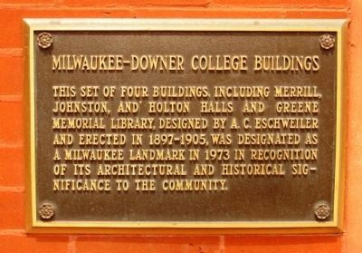 Milwaukee-Downer College Marker image. Click for full size.