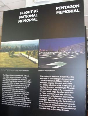 Display inside the building's 9/11 Memorial Visitors Center image. Click for full size.