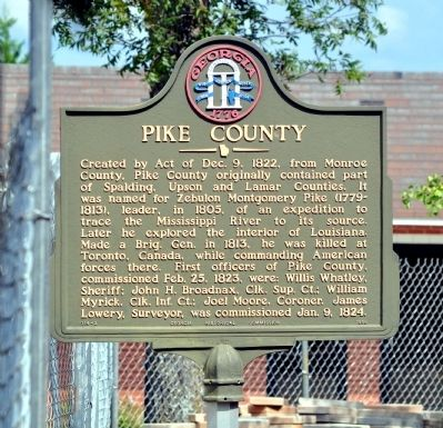 Pike County Marker image. Click for full size.