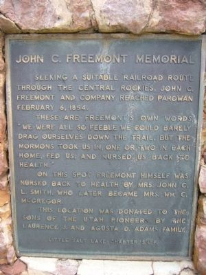 John C. Freemont Memorial Marker image. Click for full size.
