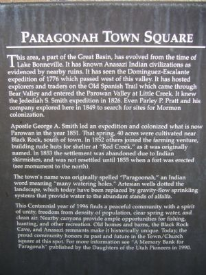 Paragonah Town Square Marker image. Click for full size.