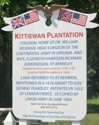 Kittiewan Plantation Marker image. Click for full size.