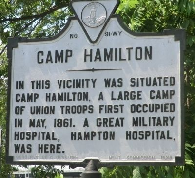 Camp Hamilton Marker image. Click for full size.