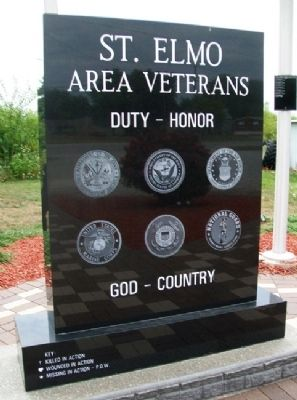 St. Elmo Area Veterans Memorial (front) image. Click for full size.