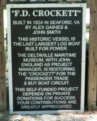 F.D. Crockett Marker image. Click for full size.