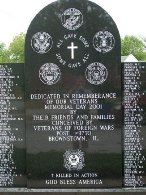 Brownstown Area Veterans Memorial image. Click for full size.