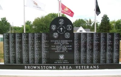 Brownstown Area Veterans Memorial image, Touch for more information