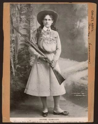 Annie Oakley - famous rifle shot and holder of the Police Gazette championship medal image. Click for full size.