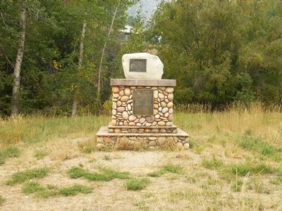 In commemoration of Old Toby the Shoshone Indian Marker image. Click for full size.