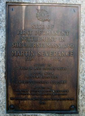 First Permanent Settlement in Shelburne Marker image. Click for full size.