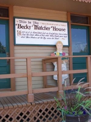 On the porch of the Becky Thatcher Home image. Click for full size.