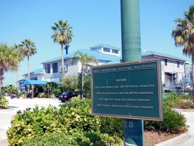 Port Canaveral Historic Milestones Marker (Military) image. Click for full size.