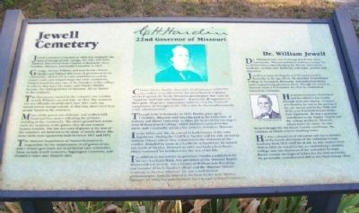 Jewell Cemetery Marker image. Click for full size.
